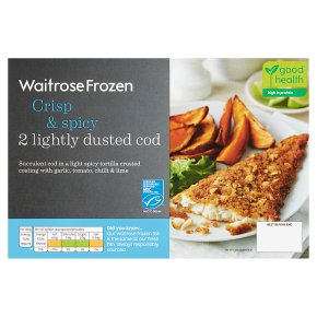 Waitrose MSC frozen crisp & spicy lightly dusted cod x 2