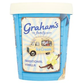 Graham's traditional vanilla ice cream