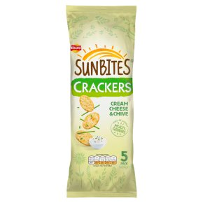 Sunbites crackers cream cheese & chive