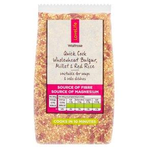 Waitrose LoveLife wholewheat bulgur millet & red rice