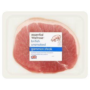 essential Waitrose unsmoked British gammon steak