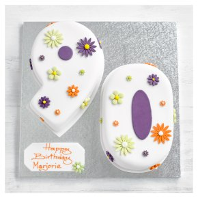 90th Birthday flowers cake