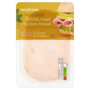 Waitrose British roast chicken breast, 4 slices