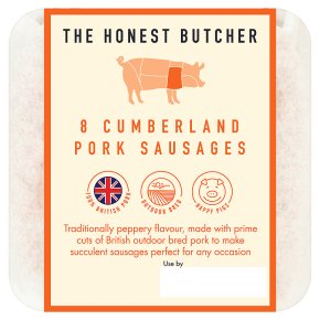 The Honest Butcher 8 Cumberland Sausages