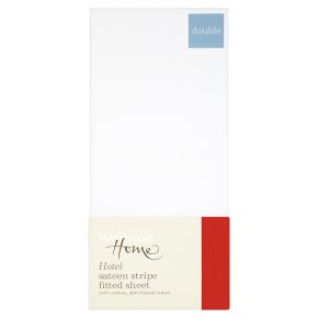 Waitrose Home Hotel Sateen Stripe Fitted Sheet