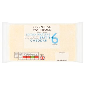 essential Waitrose English Extra Mature Cheddar Strength 6
