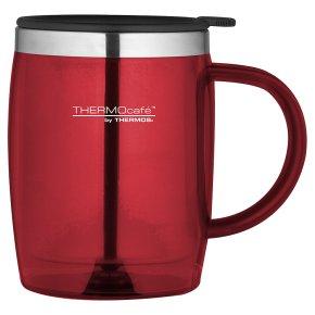 Thermos red desk mug