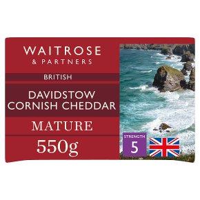 Waitrose Davidstow Cornish Cheddar Mature Strength 5