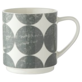 Waitrose Grey Spots Stacker Mug