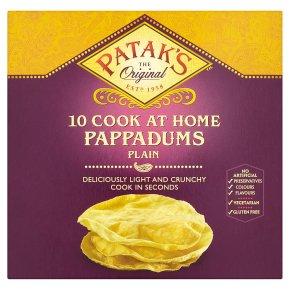 Patak's 10 plain pappadums