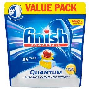 Finish Quantum 45 Dishwasher Tablets Lemon