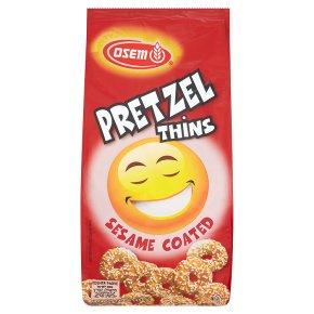 Osem pretzel thins sesame coated
