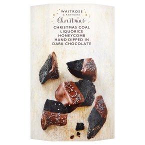 Waitrose Christmas Liquorice Honeycomb in Dark Chocolate