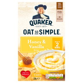 Quaker Oats So Simple honey & vanilla porridge cereal sachets