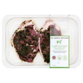 The Honest Butcher 2 Lamb Leg Steaks