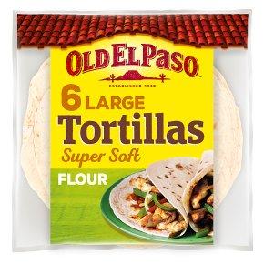 Old El Paso Large Super Soft Flour Tortillas x6