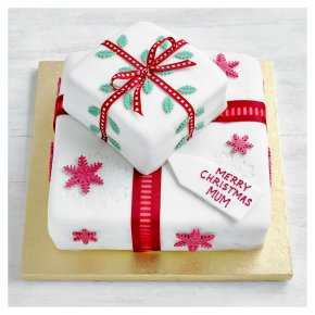 Fiona Cairns Two Tier Festive Parcel Cake