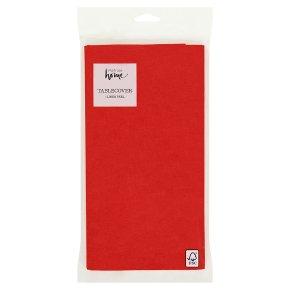 Waitrose Home linen feel red tablecover