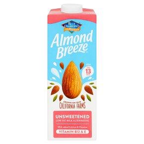 Blue Diamond longlife unsweetened almond breeze drink