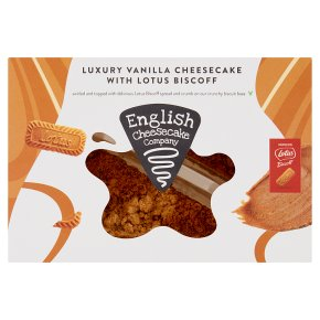 English Cheesecake Vanilla Cheesecake Slices with Biscoff