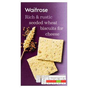 Waitrose seeded wheat biscuits for cheese