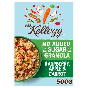 W.K Kellogg No Added Sugar Granola Raspberry