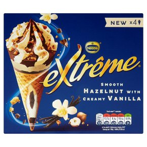 Extreme Hazelnut with Vanilla Cones