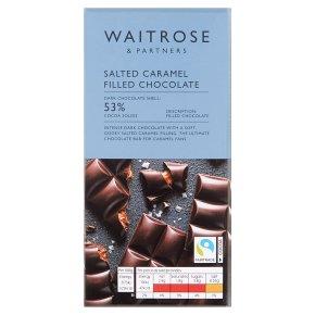 Waitrose Dark Chocolate with Salted Caramel