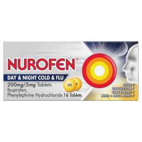 Nurofen 16 day & night, cold & flu tablets