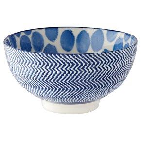 Waitrose Fusion Medium Blue Bowl