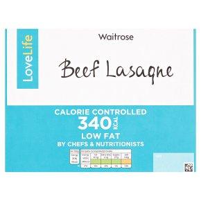 Waitrose LoveLife Calorie Controlled lasagne