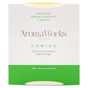 AromaWorks candle basil & orange
