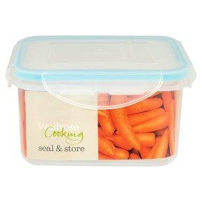 Waitrose Seal & Store 0.7 litre square container