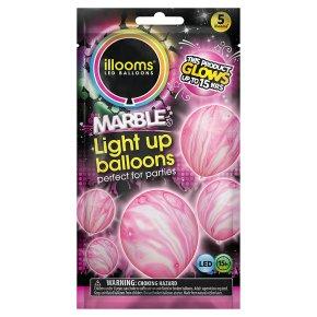 Illooms Pink Marble Light Up Balloons
