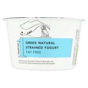 Waitrose 1 Greek natural fat free strained yogurt