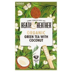 Heath & Heather Green Tea with Coconut 20s