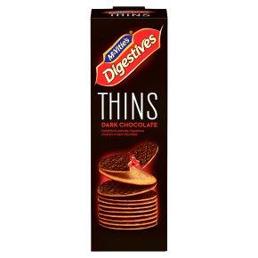 McVitie's Digestives Thins Dark Chocolate