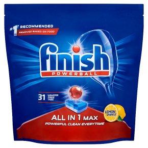 Finish 31 Dishwasher Tabs Super Charged Lemon