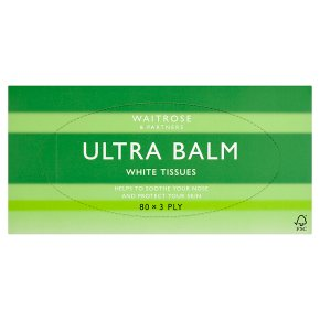 Waitrose Ultra Balm tissues