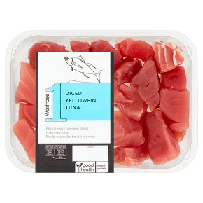 Waitrose 1 diced yellowfin tuna