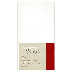 Waitrose Home Hotel Sateen Stripe Pillowcase Pair