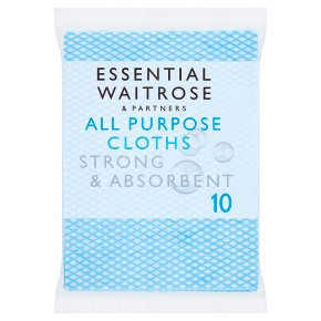 essential Waitrose All Purpose Cloths