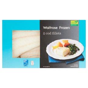 Waitrose Frozen 2 British Cod Fillet Portions MSC