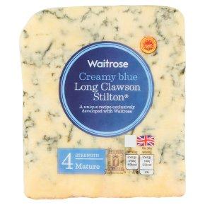 Waitrose creamy blue mature Long Clawson Stilton cheese, strength 4