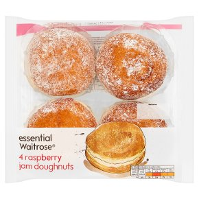 essential Waitrose Raspberry Jam Doughnuts
