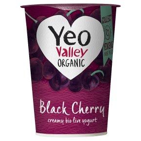 Yeo Valley Black Cherry Bio Live Yogurt