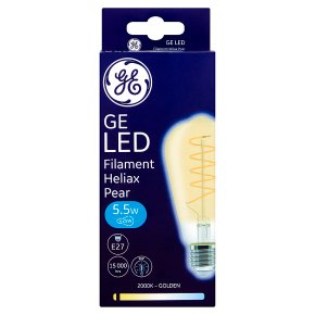 GE LED Heliax Filament Candle Gold