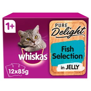 Whiskas Pure Delight Fish Selection in Jelly Adult 1+ Wet Cat Food Pouches 12 x 85g