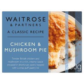 Waitrose Classic Chicken & Mushroom Pie