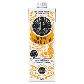 Crafted by Cracker Drinks Co. Pineapple Coconut & Lime Drink